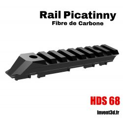 Rail Picatinny Fibre de Carbone pour HDS68 T4E de Umarex - Made in France - Lunette