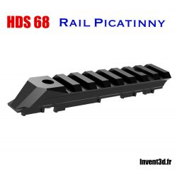 Rail Picatinny adaptable sur le HDS 68 T4E - Made in France