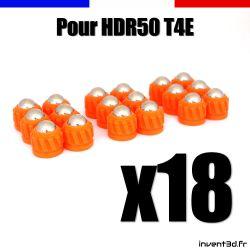 18 munitions pour T4E HDR50 cal.50 bille 8mm poids 2,7g - Slug projectile Orange