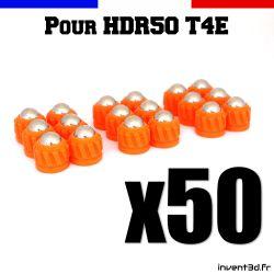 50 munitions pour T4E HDR50 cal.50 bille 8mm poids 2,7g - Slug projectile Orange